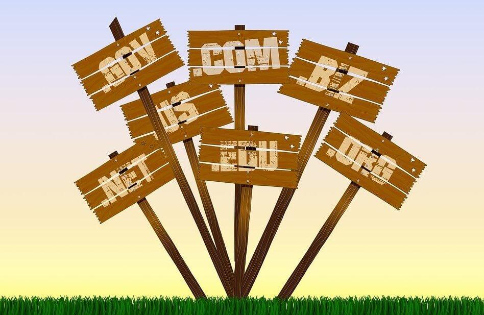 Nombres de dominios web