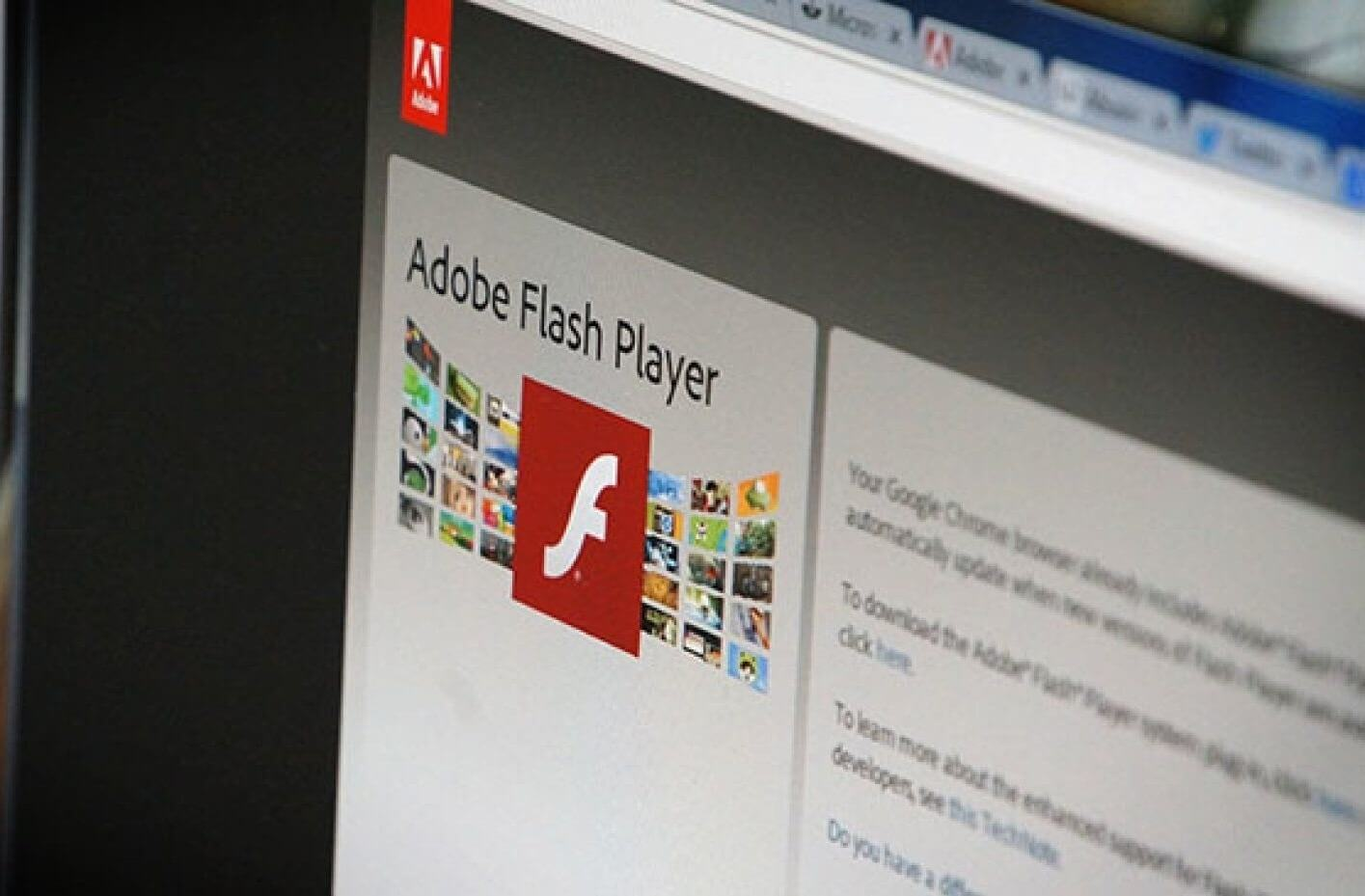 Página de descarga de Flash Player