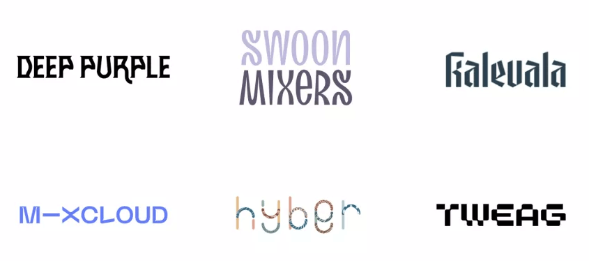 Fuentes inusuales en logos