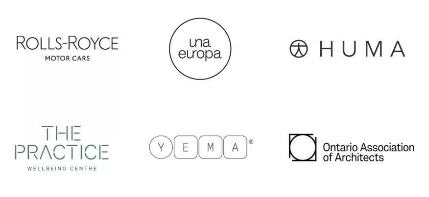 Logos elaborados con diseño linear