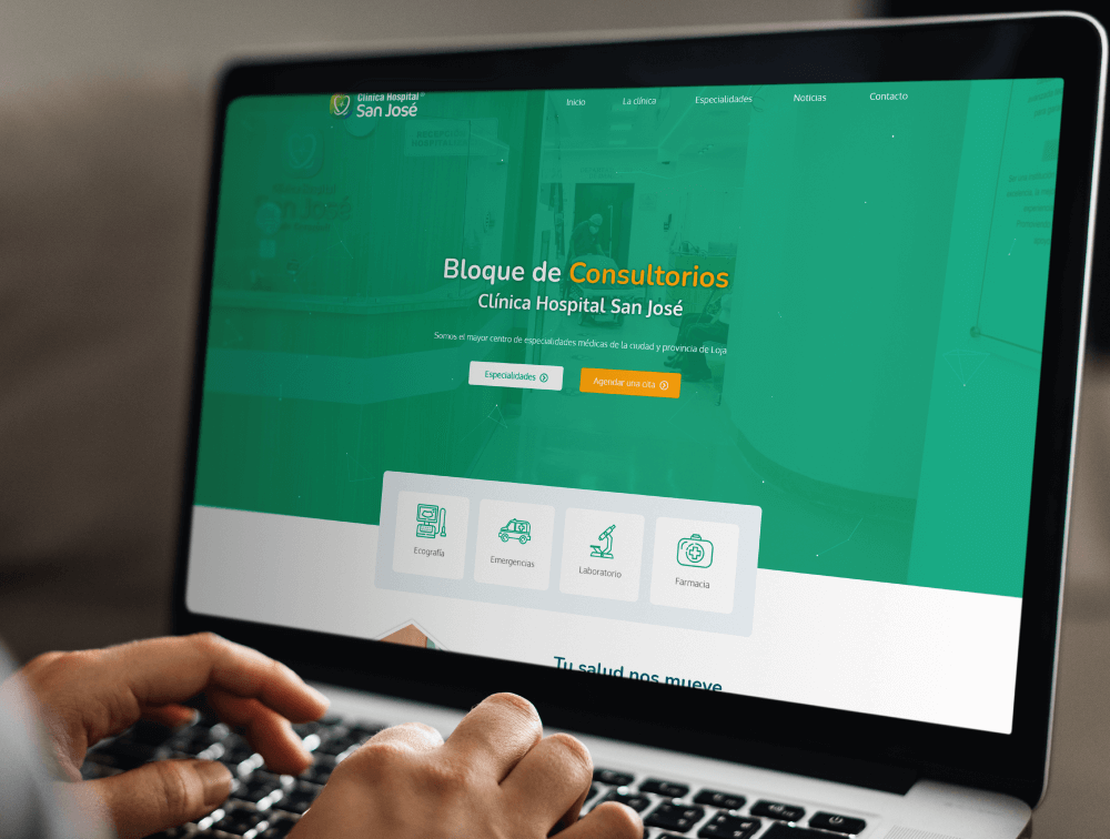 Sitio web de la clínica hospital San José